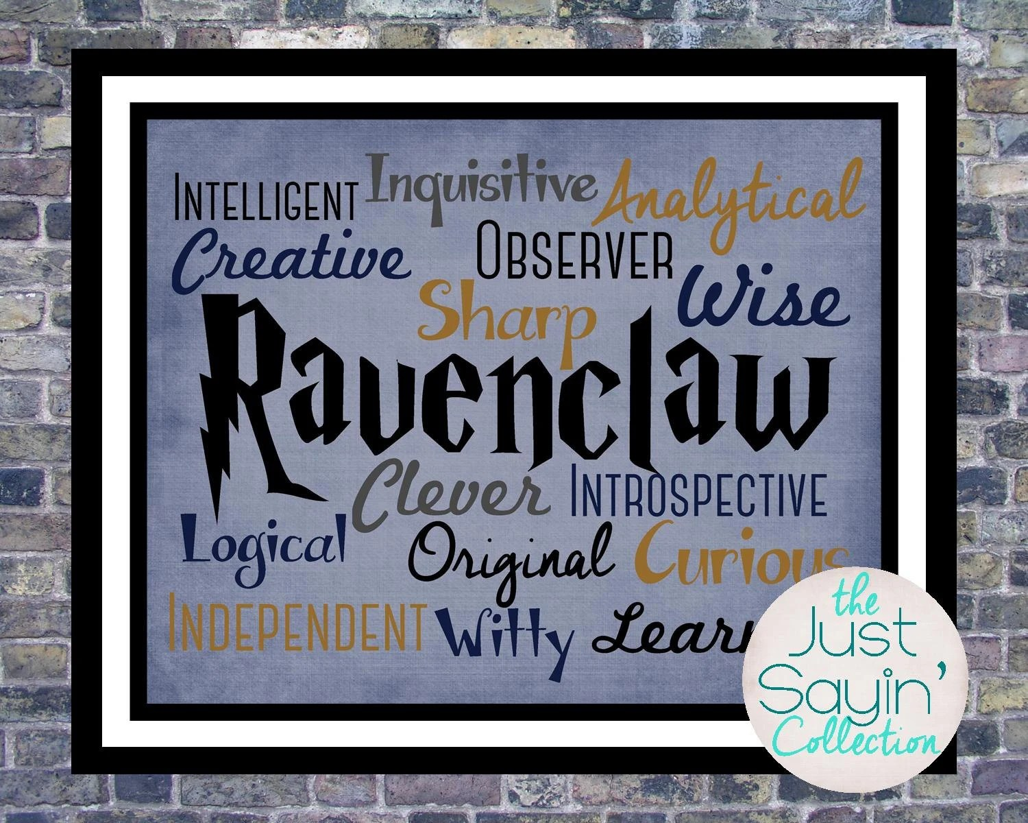 Harry Potter Ravenclaw Print Traits Of The Hogwarts House Of