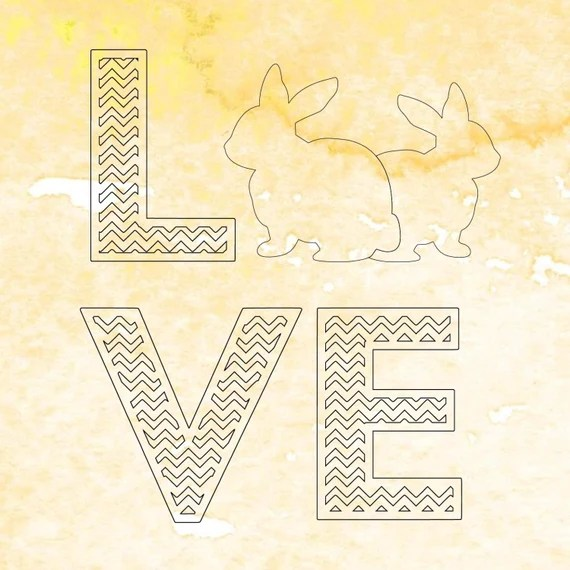 Download Chevron Love Easter SVG cutting file, Love Bunny svg file ...