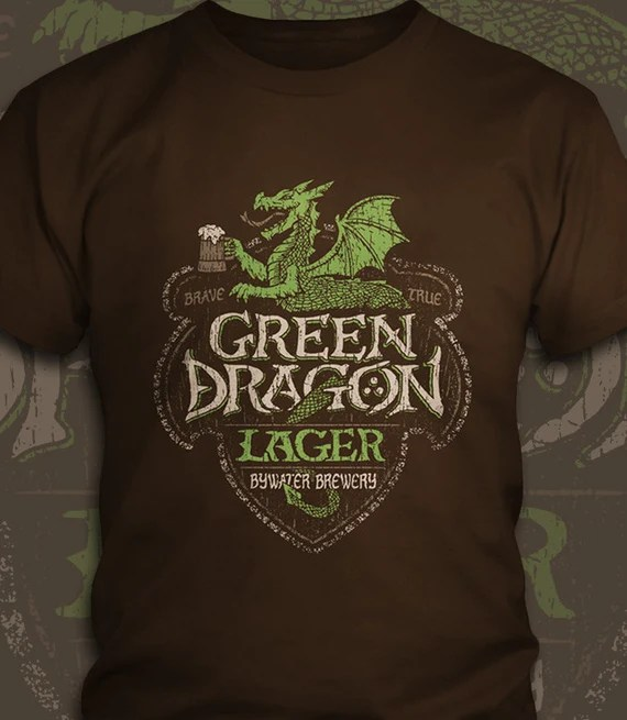 Green Dragon Lager - The Lord of the Rings T-Shirt - Men's / Unisex & Women's Fit