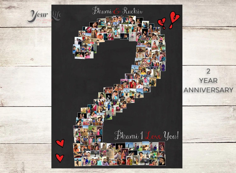 2 YEAR ANNIVERSARY 2nd Anniversary Gift Photo Collage