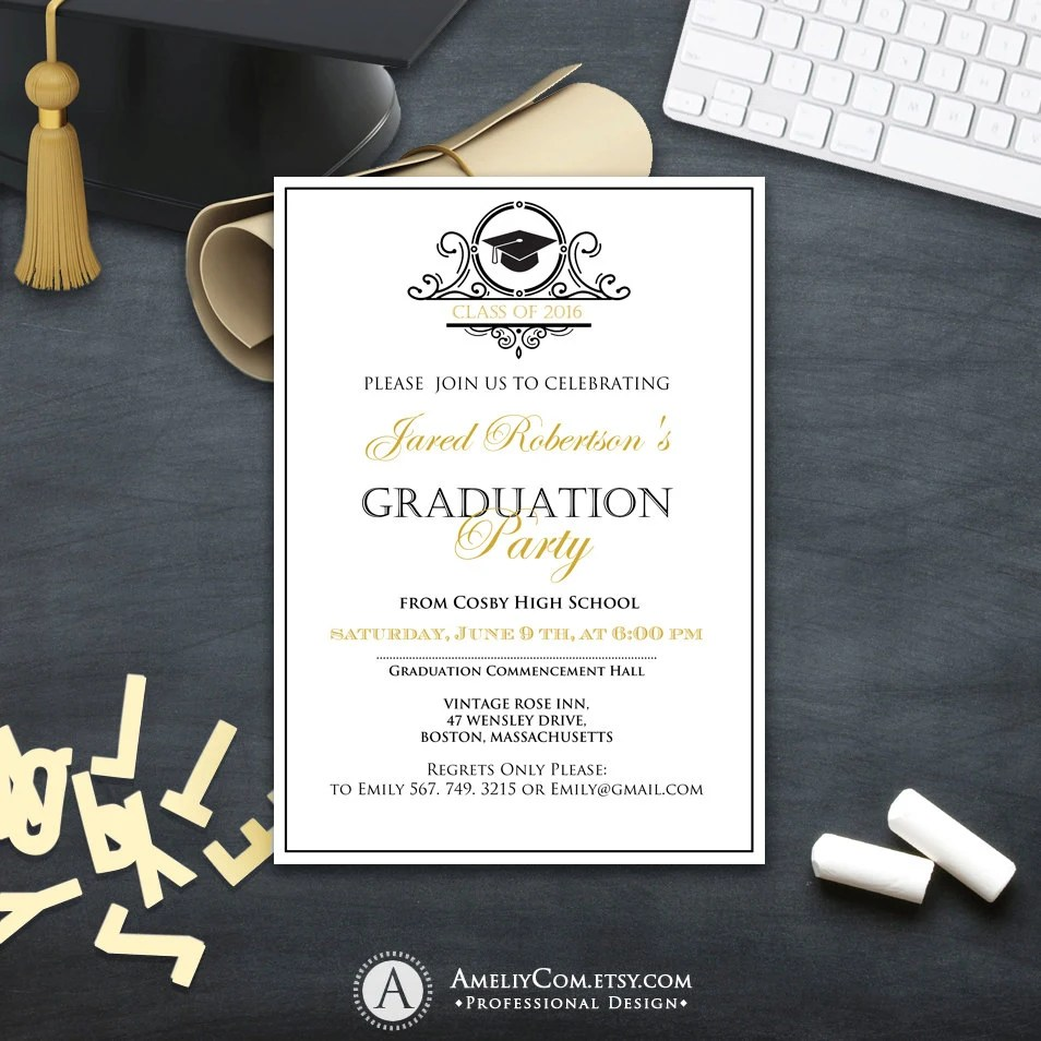 High School Graduation Invitation Cards