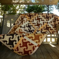 Tan and Brown Quilt