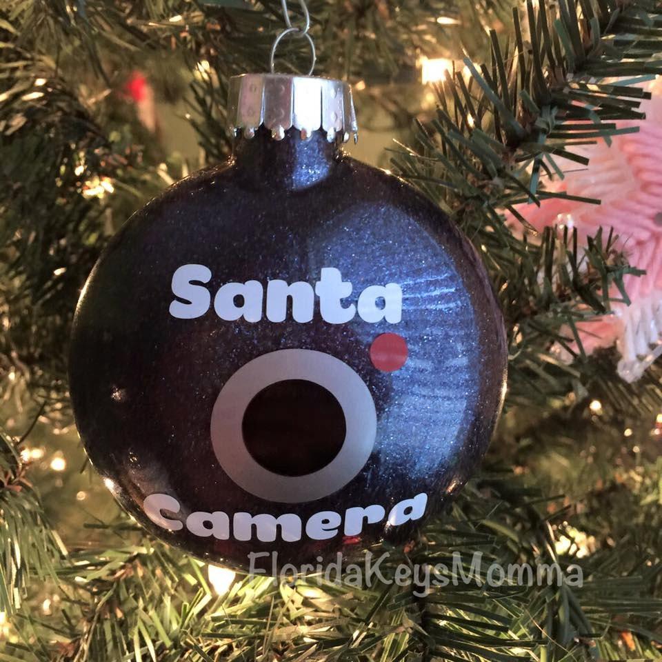 Santa Camera Ornament Funny Christmas Ornament Funny