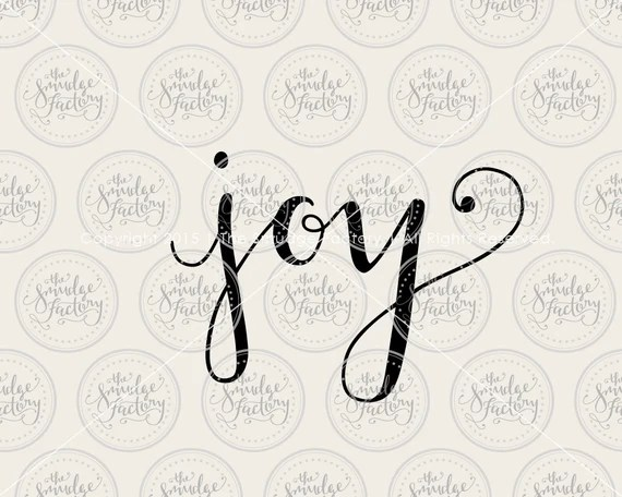 Download Joy SVG Cut File Hand Lettered Silhouette by ...