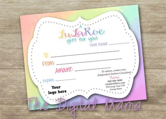 etsy lularoe gift certificate