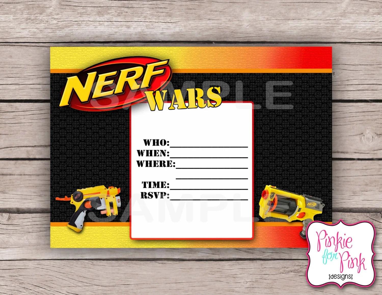 Printable Nerf Invitations