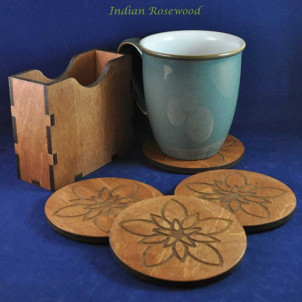 Flower Coasters (set of 4...