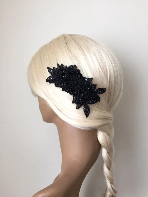 Black And White Bridal Accessories Bridal Hair Accessories