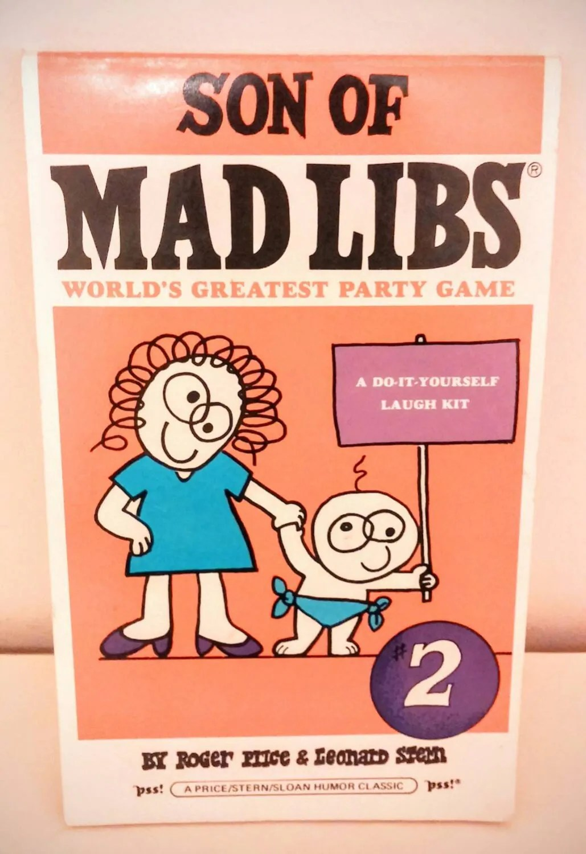 Mad Libs Blank Unused Son Of Mad Libs