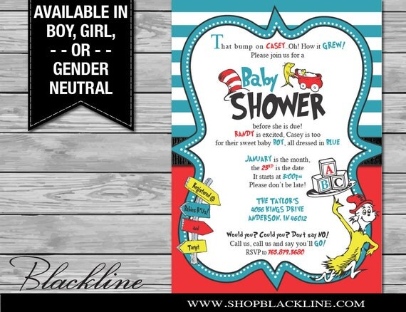 Baby Oh Invitations Dr Seuss Shower Images