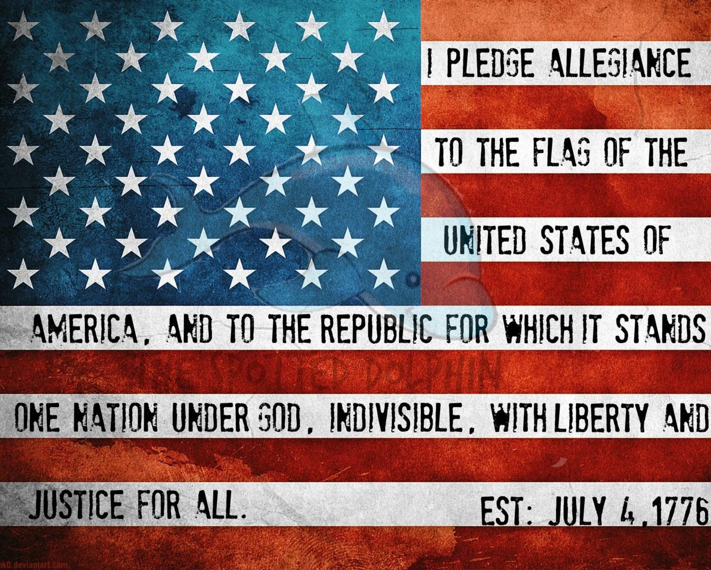 Flag Pledge Printable Pledge Of Allegiance Patriotic Wall
