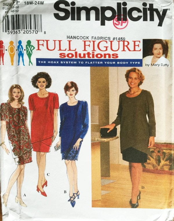 2 Piece Dress Pattern for the Full Figure / HOAX Full ...