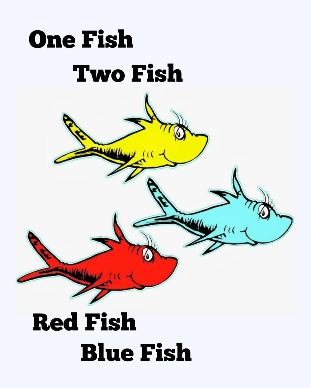 Playroom One Fish Two Fish Nursery Art Printable Art Instant
