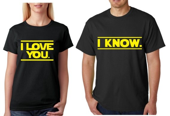 Download I love you I know Star Wars Couple Shirts