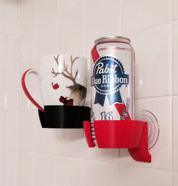 Shower Beer Beverage Wine Holder Bathroom Bathtub By