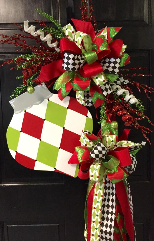 Harlequin Ornament Christmas Wreath By DesignsAshleyNichole
