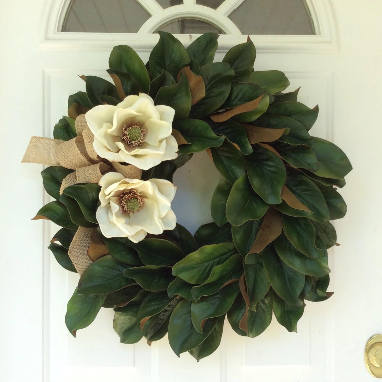 Magnolia Leaf Wreath Magnolia Wreath Magnolia Door Wreath All