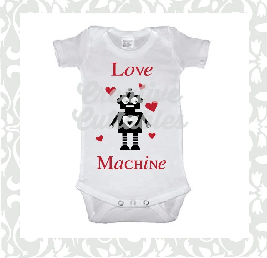 Download Robot SVG Valentine Love Machine designs for Silhouette or