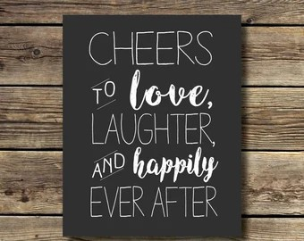 Download Cheers love laughter | Etsy