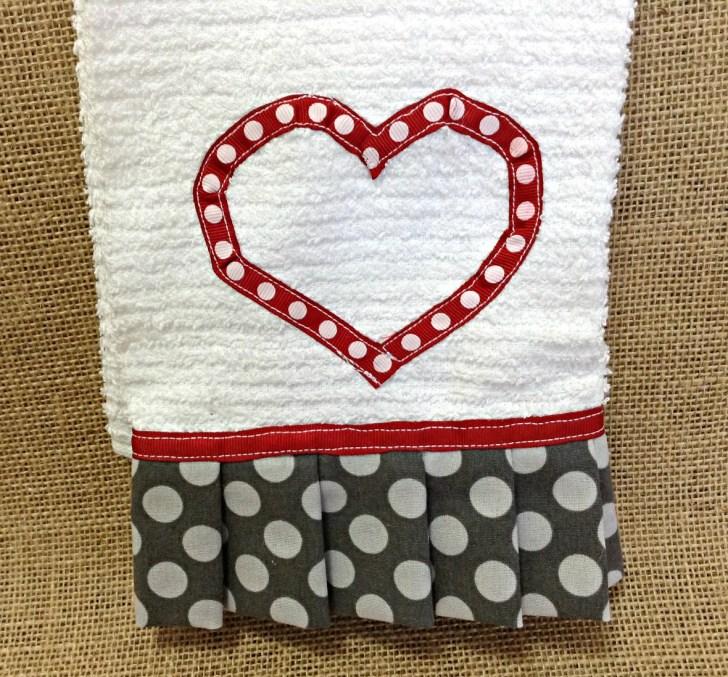 Valentine Towel Valentines Kitchen Ready Ship