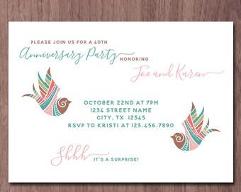 Wedding anniversary invitations uk inviview 50th wedding anniversary invites uk stopboris Images