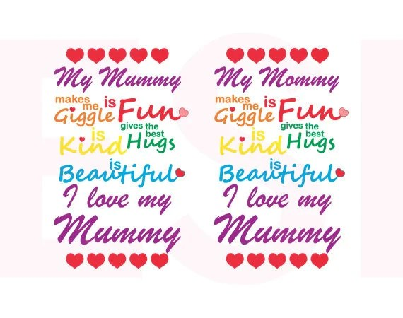 Download I love my Mommy/Mummy Mothers Day svg Mom svg files Mum