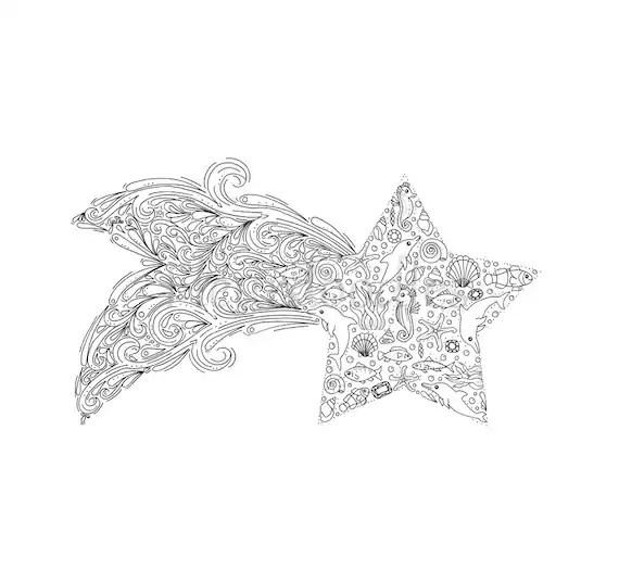 Hnliche Artikel Wie Star Fish Malseite Zum Ausdrucken