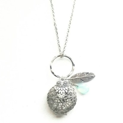 owl necklace diffuser