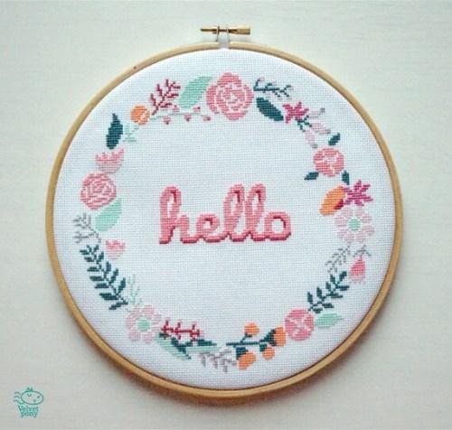 Wreath Decor Doorway Laurel Garland Embroidery Ssewing Hhello Fflowers Ffloral Modern Wreaths
