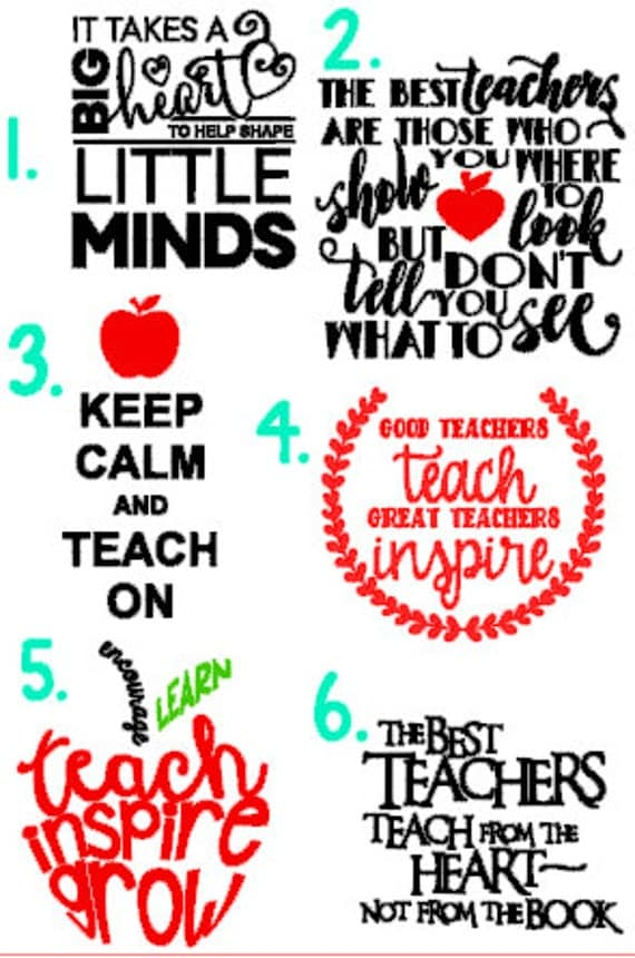 Items Similar To Teacher Quote Decals Teacher Gifts