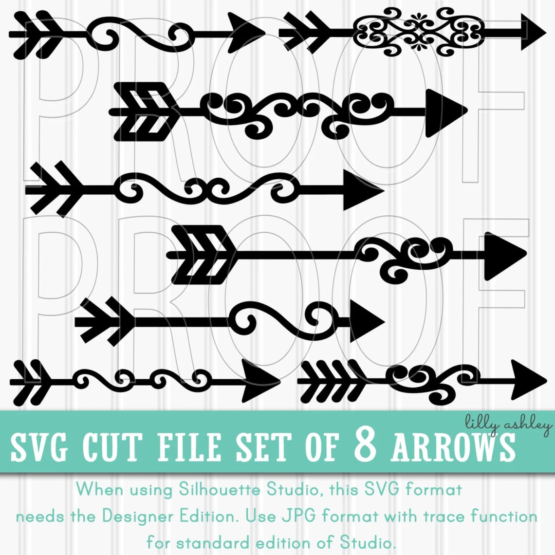 Download Arrow SVG Cut File Set of 8-Commercial use ok Includes PNG