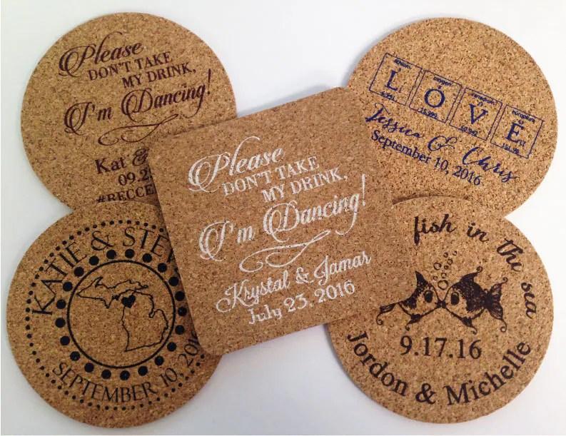 Wedding Favors Coasters 150 Wedding Favors Cork Drink Coasters