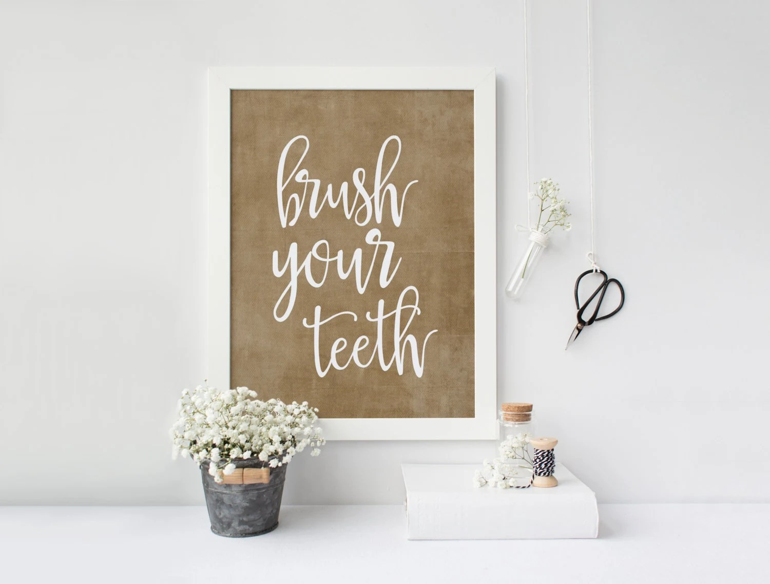 Printable Art Brush Your Teeth Wash Your Face So