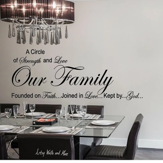 Download Our Family: A Circle of Strength and Love Wall Quote Vinyl