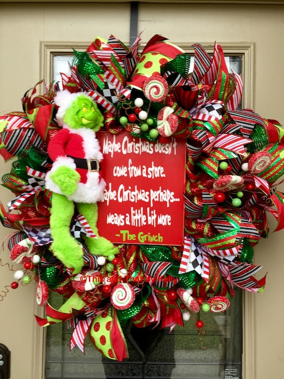 Grinch Christmas Mesh Wreaths Christmas Wikii