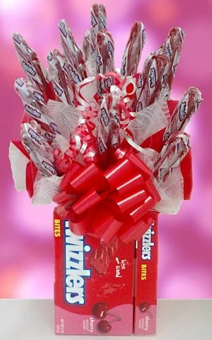 Twizzlers Candy Arrangement with Bow