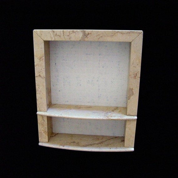 Recessed Shower Wall Niche 2A Double Shelf Item 481958365