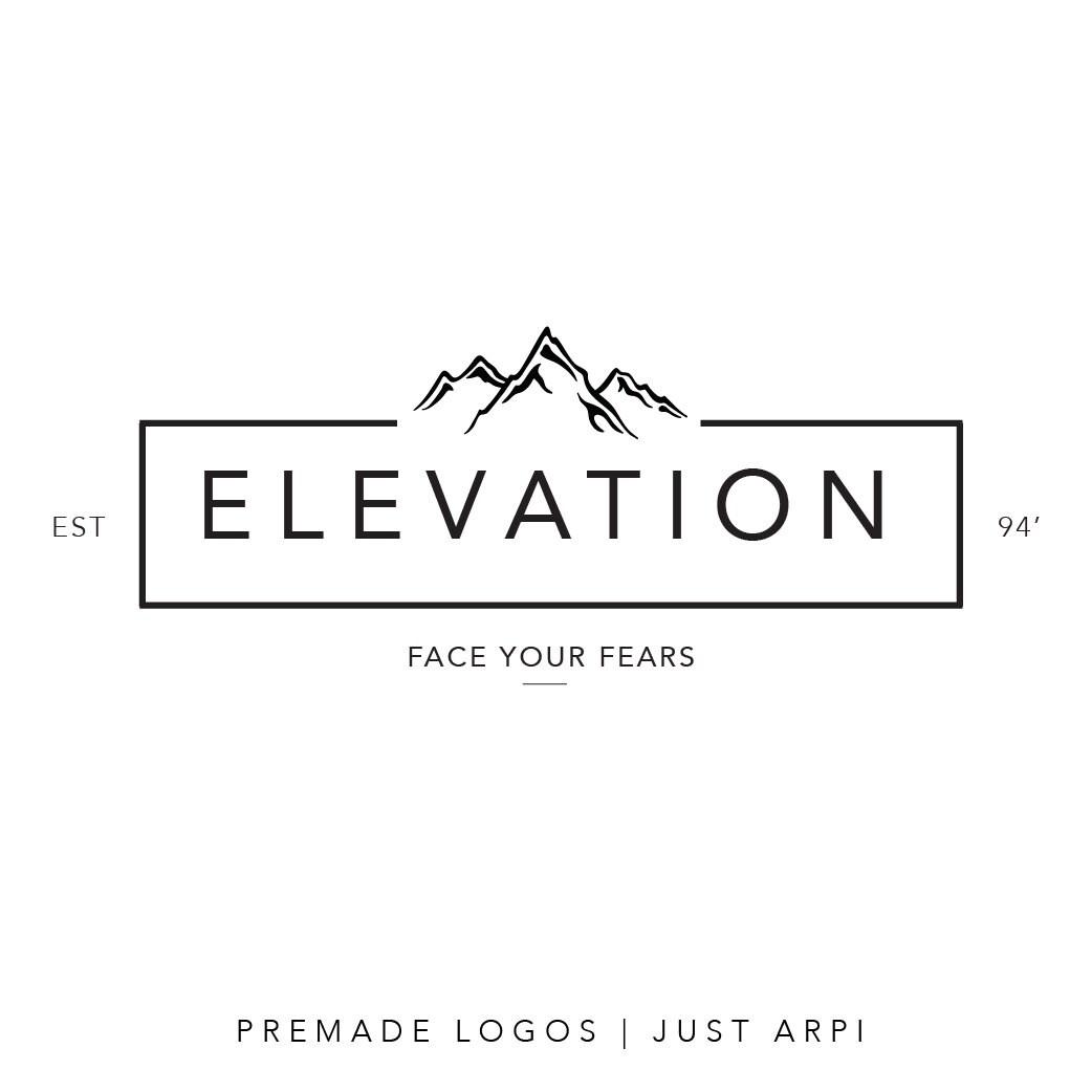 Premade Logo Minimal Logo Mountain Logo By Girlbossboutique