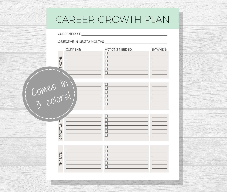 Business Goals Printable Goal Setting By Purposefulprintables