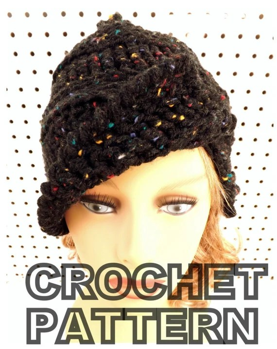 Crochet Pattern Hat Womens Crochet Hat Pattern Beanie Hat Pattern