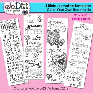 4 Bible Journaling Templates Bookmarks by JoDitt Designs