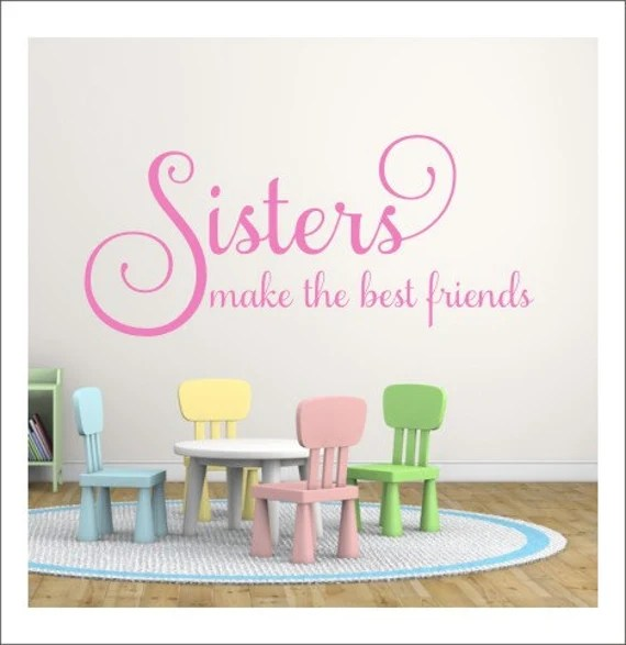 Sisters Wall Decal by CustomVinylbyBridge