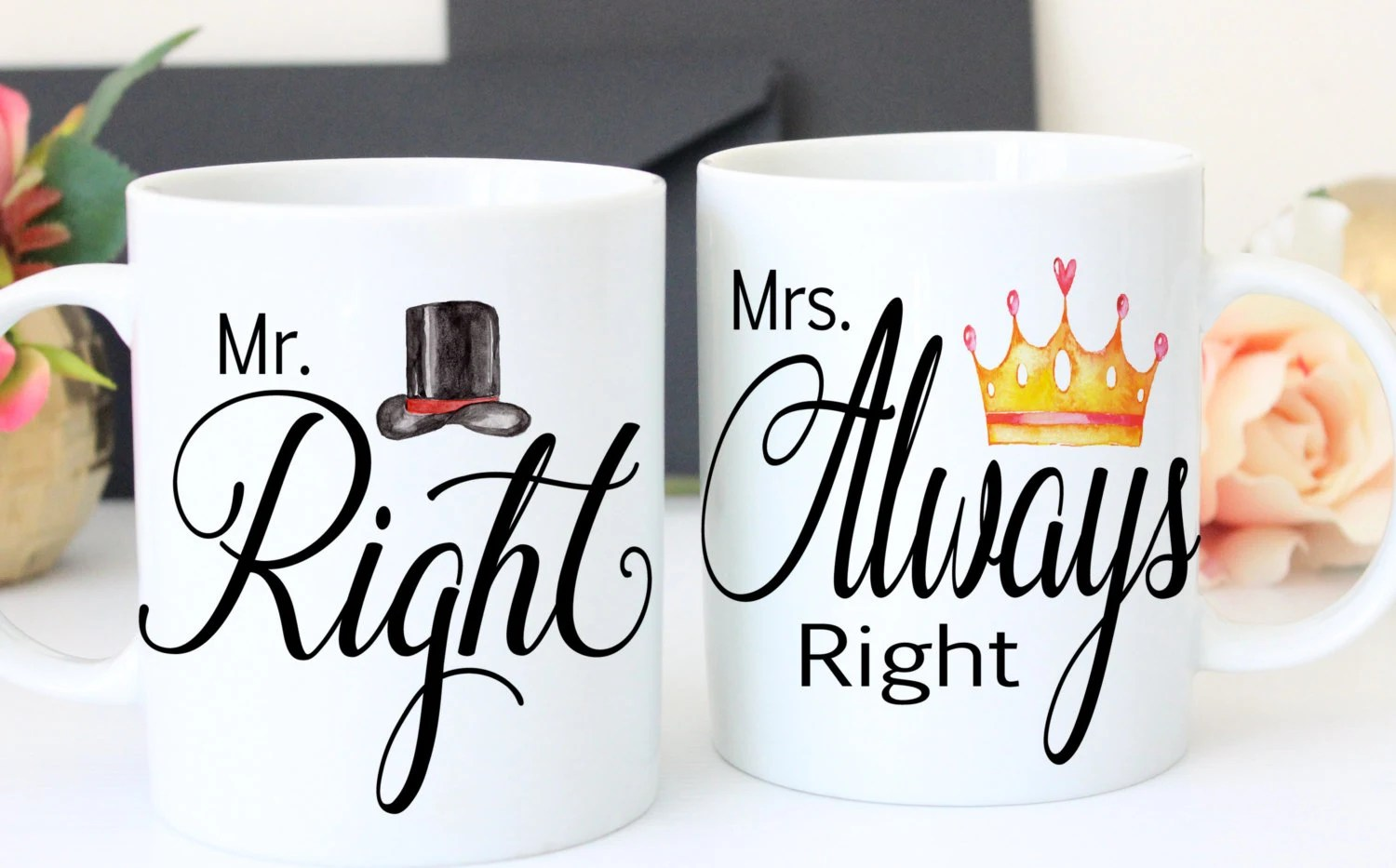 Wedding Gift Mr And Mrs Mugs Bridal Shower By