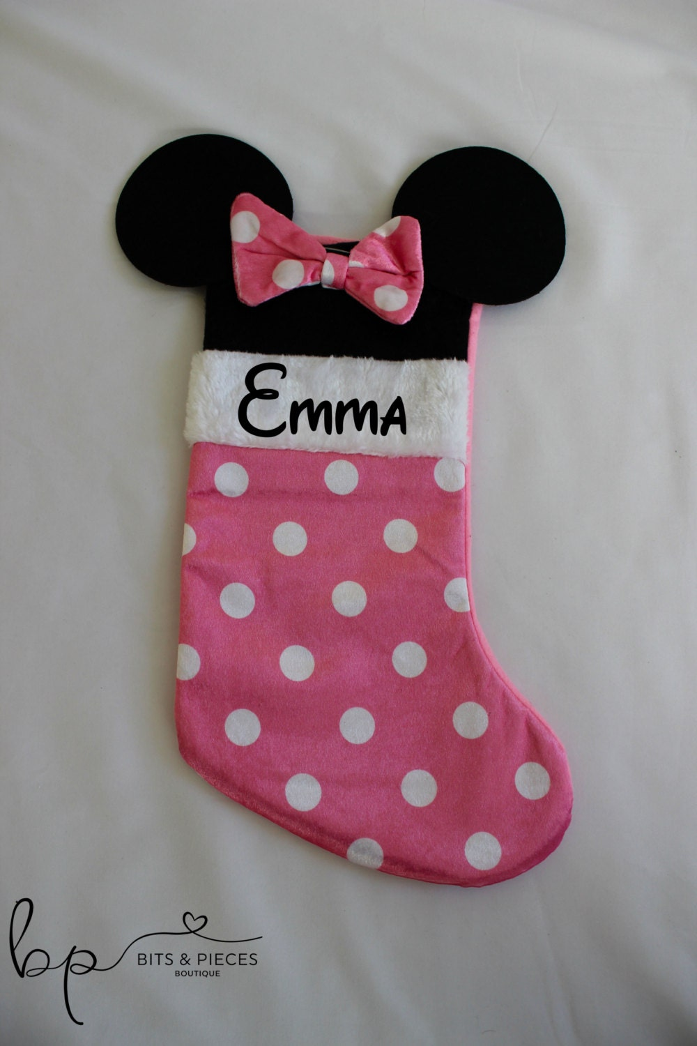 Personalized Minnie Mouse Christmas Stocking