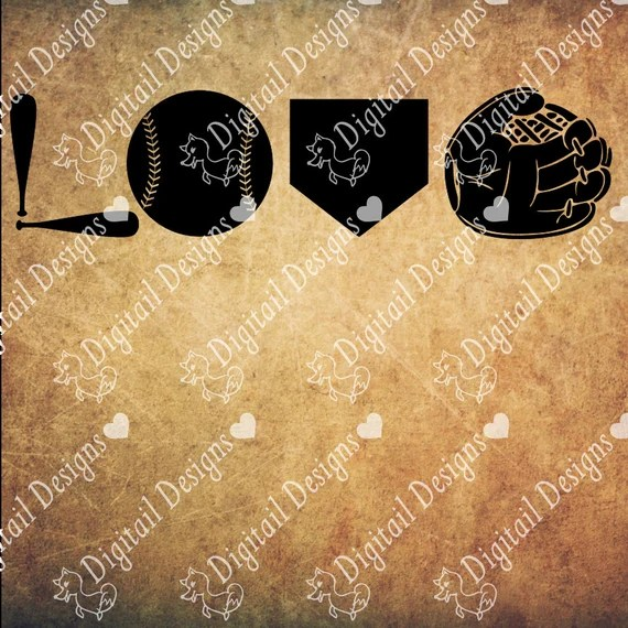 Download Baseball Love SVG Love png dxf eps Cut file for Silhouette