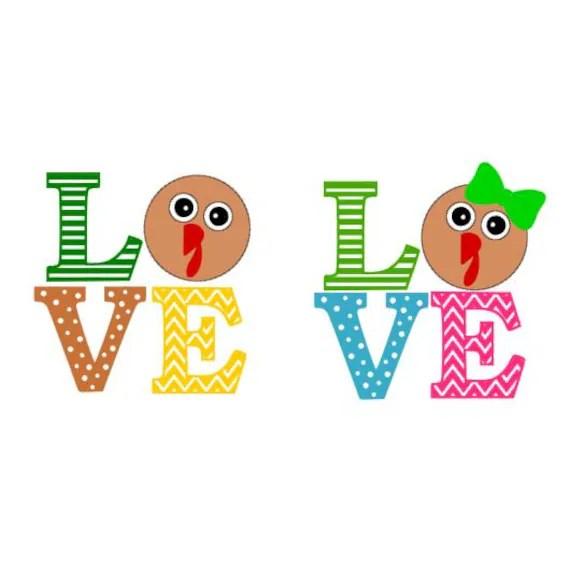 Download Chevron Polka Dots and Striped Turkey Love SVG Studio 3