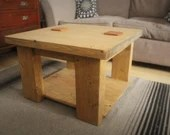 coffee table, wood natura...