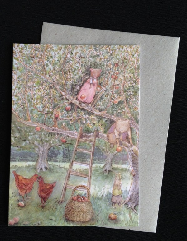 Apple Picking Greeting Card featuring Possum Wombat and