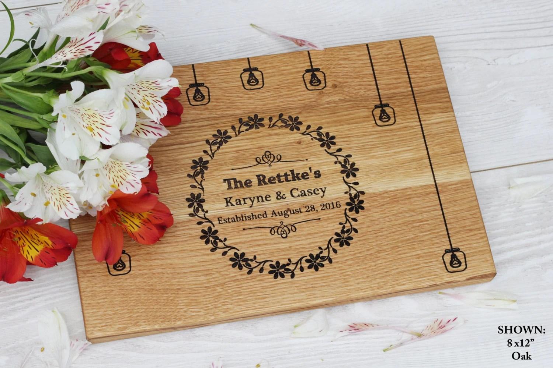 Wedding Gift Personalized Cutting Board Rustic Wedding