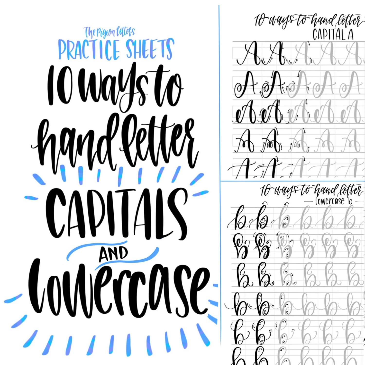 Bundle Amp Save Hand Lettering Practice Sheets 10 Ways To